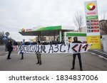 members of far right radical...   Shutterstock . vector #1834837006