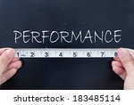 measuring performance  | Shutterstock . vector #183485114