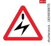 electrified overhead cable... | Shutterstock .eps vector #1834858870