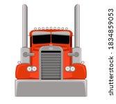 red semi truck vector...   Shutterstock .eps vector #1834859053