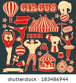 pattern of the circus   Shutterstock .eps vector #183486944