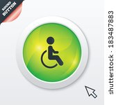 disabled sign icon. human on...