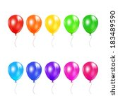set of colored balloons... | Shutterstock .eps vector #183489590