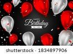 happy birthday party invitation ...   Shutterstock .eps vector #1834897906