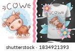 Cute Teddy Cow   Idea For Print ...