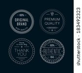 outline labels | Shutterstock .eps vector #183492323
