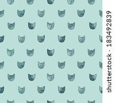 seamless cute pattern with... | Shutterstock .eps vector #183492839