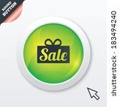 sale gift box sign icon....