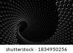 tunnel or wormhole. digital... | Shutterstock .eps vector #1834950256