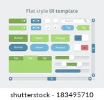 flat style ui template  vector | Shutterstock .eps vector #183495710