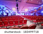 conference  hall with red... | Shutterstock . vector #183499718