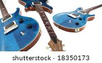Electric guitars isolated - stock photo