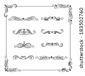 set of vintage frame  border ... | Shutterstock . vector #183502760