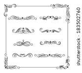 set of vintage frame  border ... | Shutterstock . vector #183502760