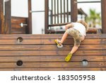 Young Caucasian Child Playing...