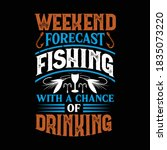 weekend forecast fishing with a ... | Shutterstock .eps vector #1835073220