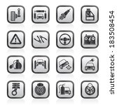 car and road services icons  ... | Shutterstock .eps vector #183508454