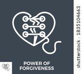 power of forgiveness thin line... | Shutterstock .eps vector #1835104663