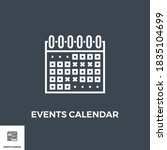 events calendar related vector...   Shutterstock .eps vector #1835104699
