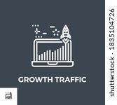 growth traffic related vector... | Shutterstock .eps vector #1835104726