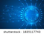 abstract futuristic internet...   Shutterstock .eps vector #1835117743