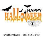 happy halloween poster art... | Shutterstock .eps vector #1835150140