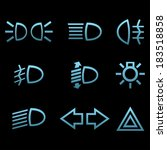 car interface symbols. icon set ... | Shutterstock .eps vector #183518858