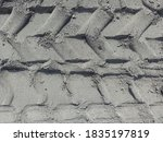 Top View Of Tire Tracks On The...
