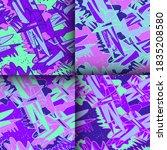 set of four seamless... | Shutterstock .eps vector #1835208580