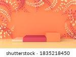 3d rendered studio with spring... | Shutterstock . vector #1835218450
