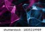 digital earth space network.... | Shutterstock . vector #1835219989