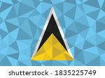 low poly saint lucia flag... | Shutterstock .eps vector #1835225749