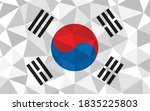 low poly south korea flag... | Shutterstock .eps vector #1835225803