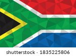 low poly south africa flag... | Shutterstock .eps vector #1835225806