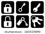 set  collection  group of keys... | Shutterstock .eps vector #183525890