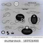 calligraphic design elements | Shutterstock .eps vector #183526400