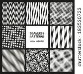 vector set of eight seamless... | Shutterstock .eps vector #183530723