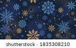 winter night blue background... | Shutterstock .eps vector #1835308210