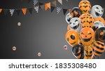 3d render gray gradient... | Shutterstock . vector #1835308480