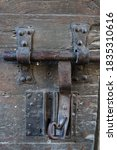 Vertical Photo Of An Old Lock...