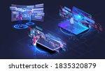 web development  coding and... | Shutterstock .eps vector #1835320879