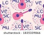 hand drawn musical seamless...   Shutterstock .eps vector #1835339866