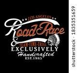 los angeles .road race... | Shutterstock .eps vector #1835351659