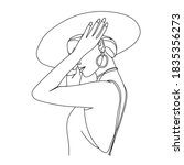 Abstract Woman With Hat With By ...