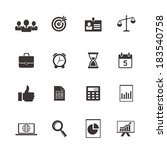 business and time icons ... | Shutterstock .eps vector #183540758