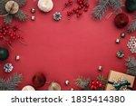 Christmas Frame With Gift Box ...