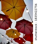 Red And Yellow Umbrellas...