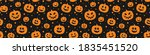 halloween pattern with scary... | Shutterstock .eps vector #1835451520