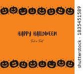 happy halloween. concept of... | Shutterstock .eps vector #1835451589