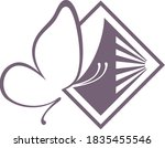 vector logo icon of butterfly...   Shutterstock .eps vector #1835455546